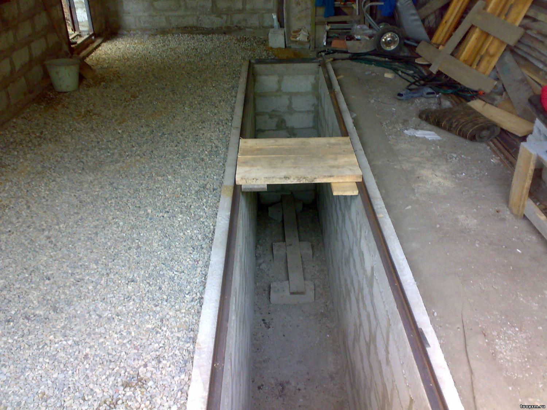 Как залить яму в гараже бетоном своими руками
